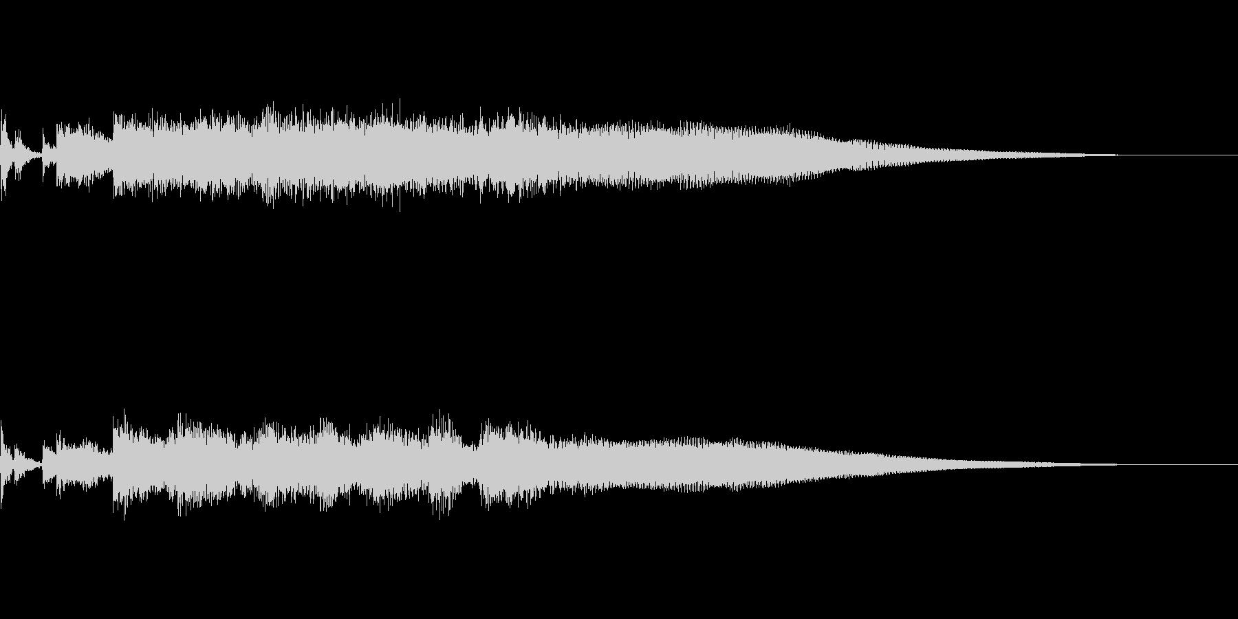 ロックな音です。の未再生の波形