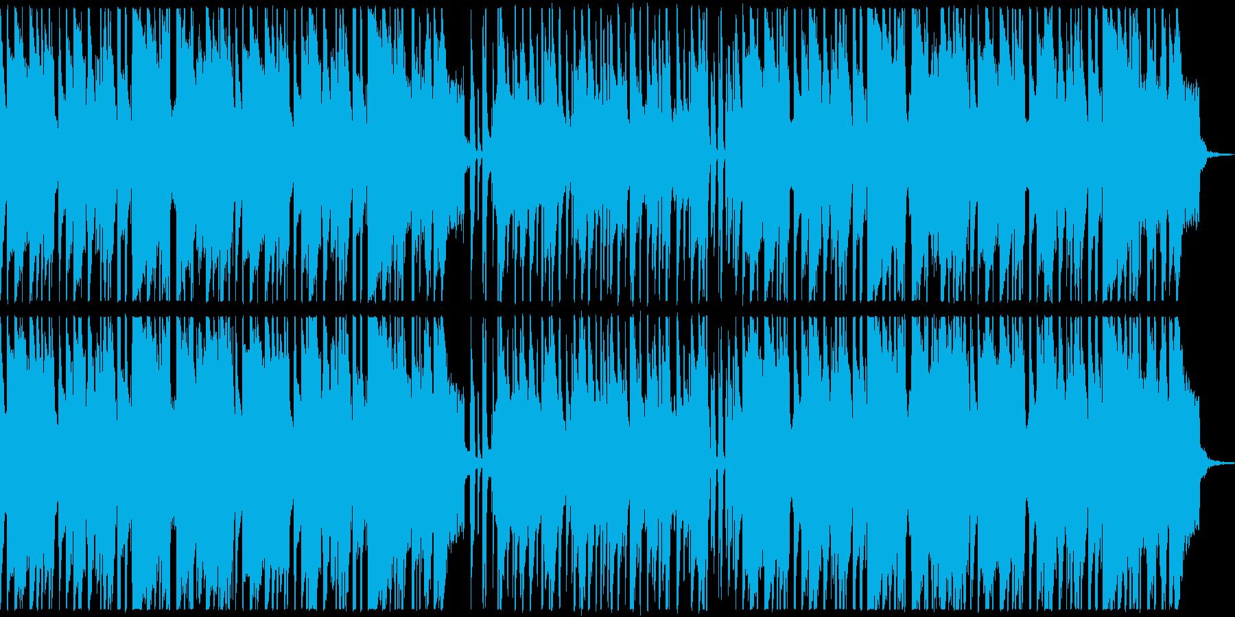 ウクレレと口笛のまったりした曲の再生済みの波形