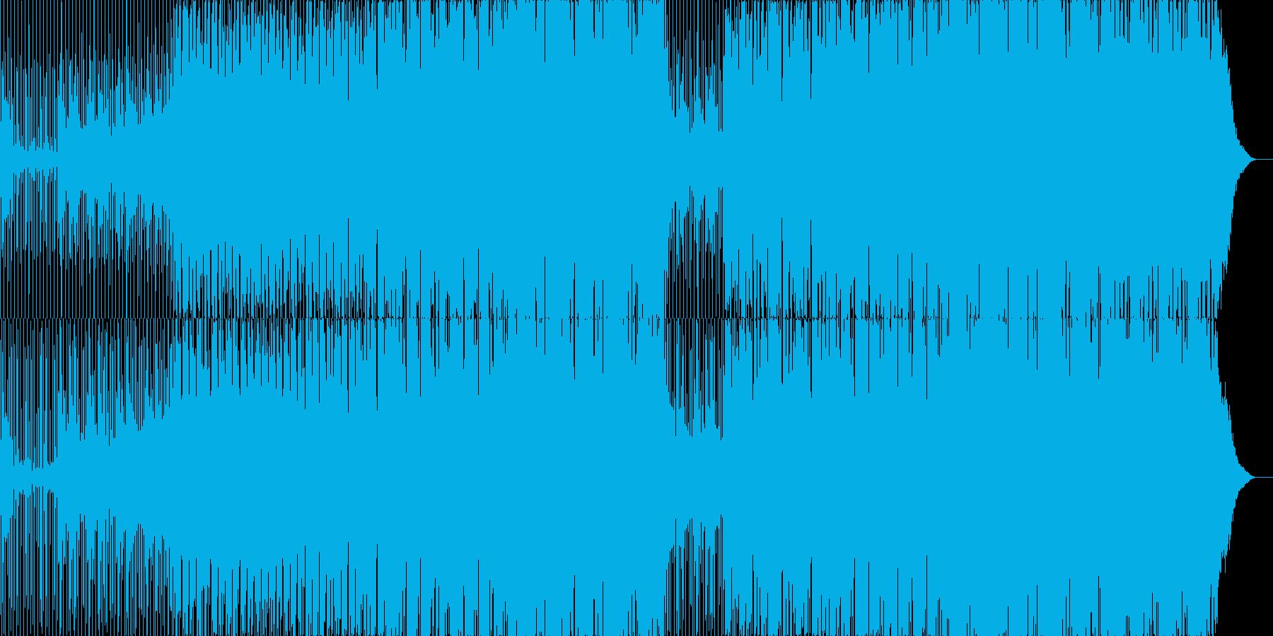 星空を感じる可愛い歌声のEDMの再生済みの波形