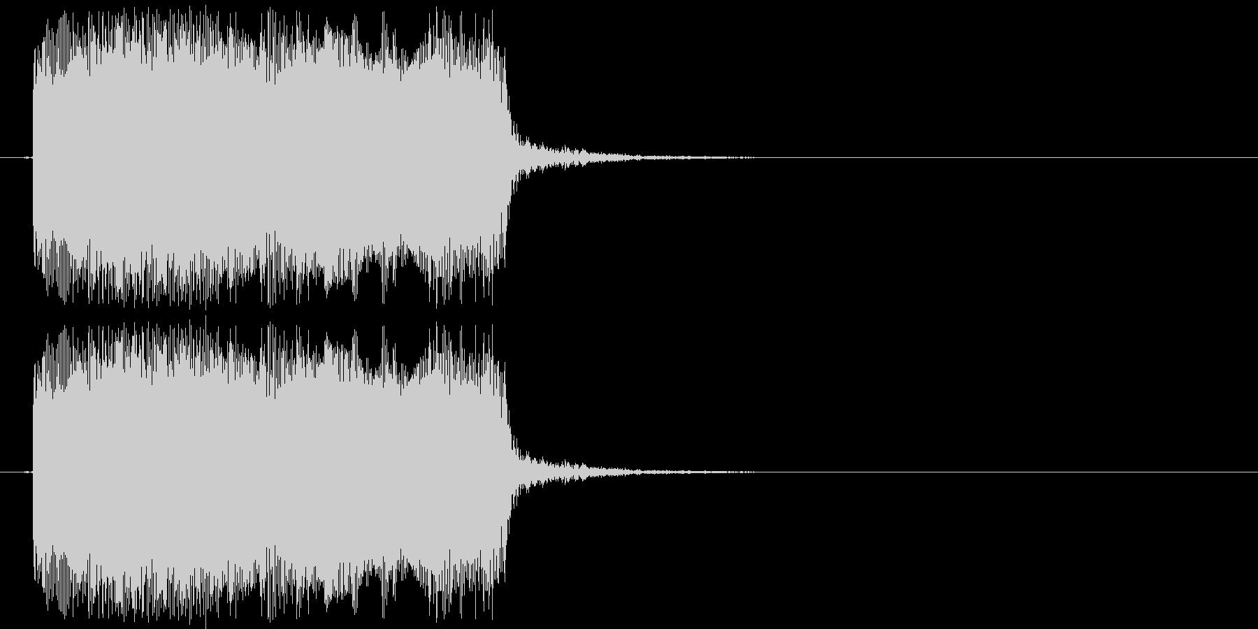 ギターフレーズ012の未再生の波形