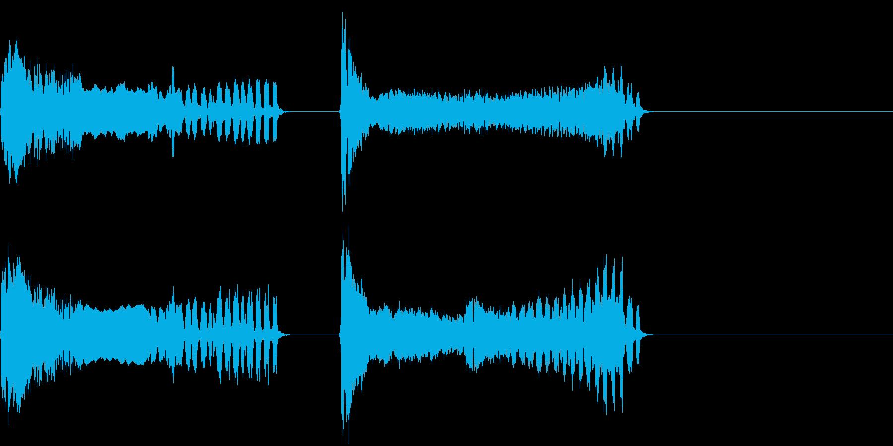 トンビの鳴き声(ピーヒョロロ)の再生済みの波形