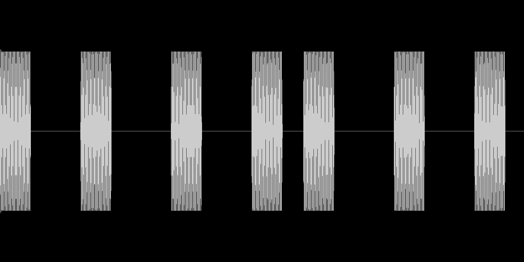 電話呼び出し音(プルルルル…)の未再生の波形