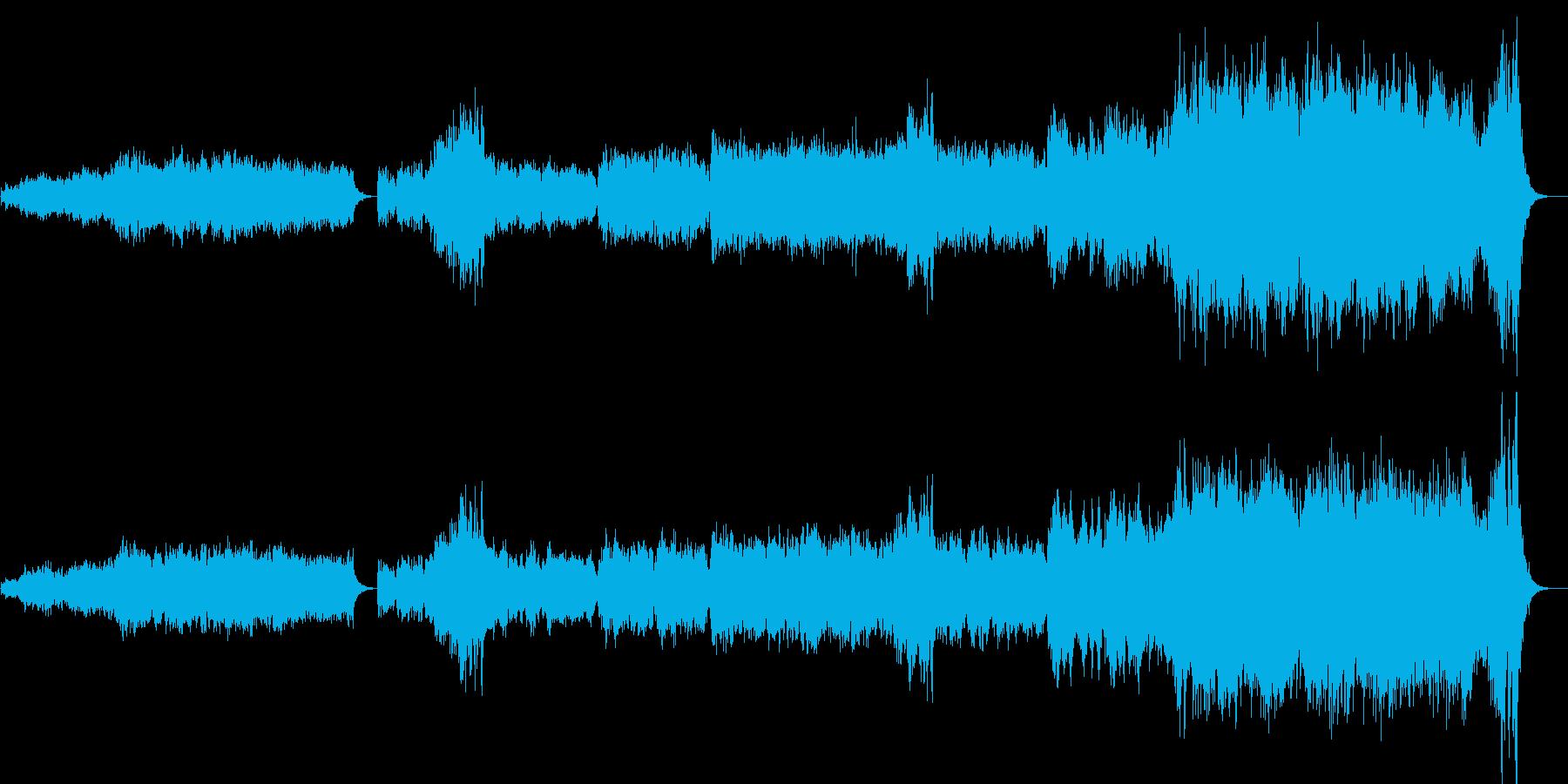 短調オリジナルオーケストラ楽曲の再生済みの波形