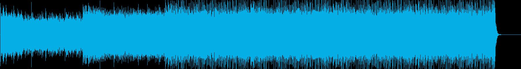 ゆっくりとした素朴なロックの再生済みの波形