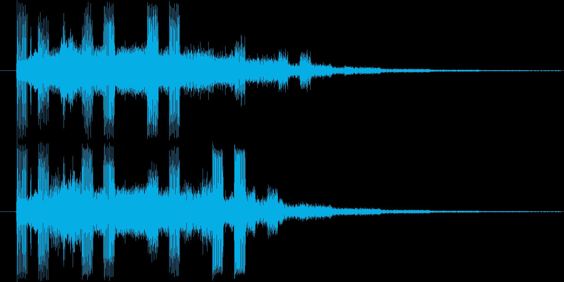 ドミソド(-1):終了やレベルアップにの再生済みの波形