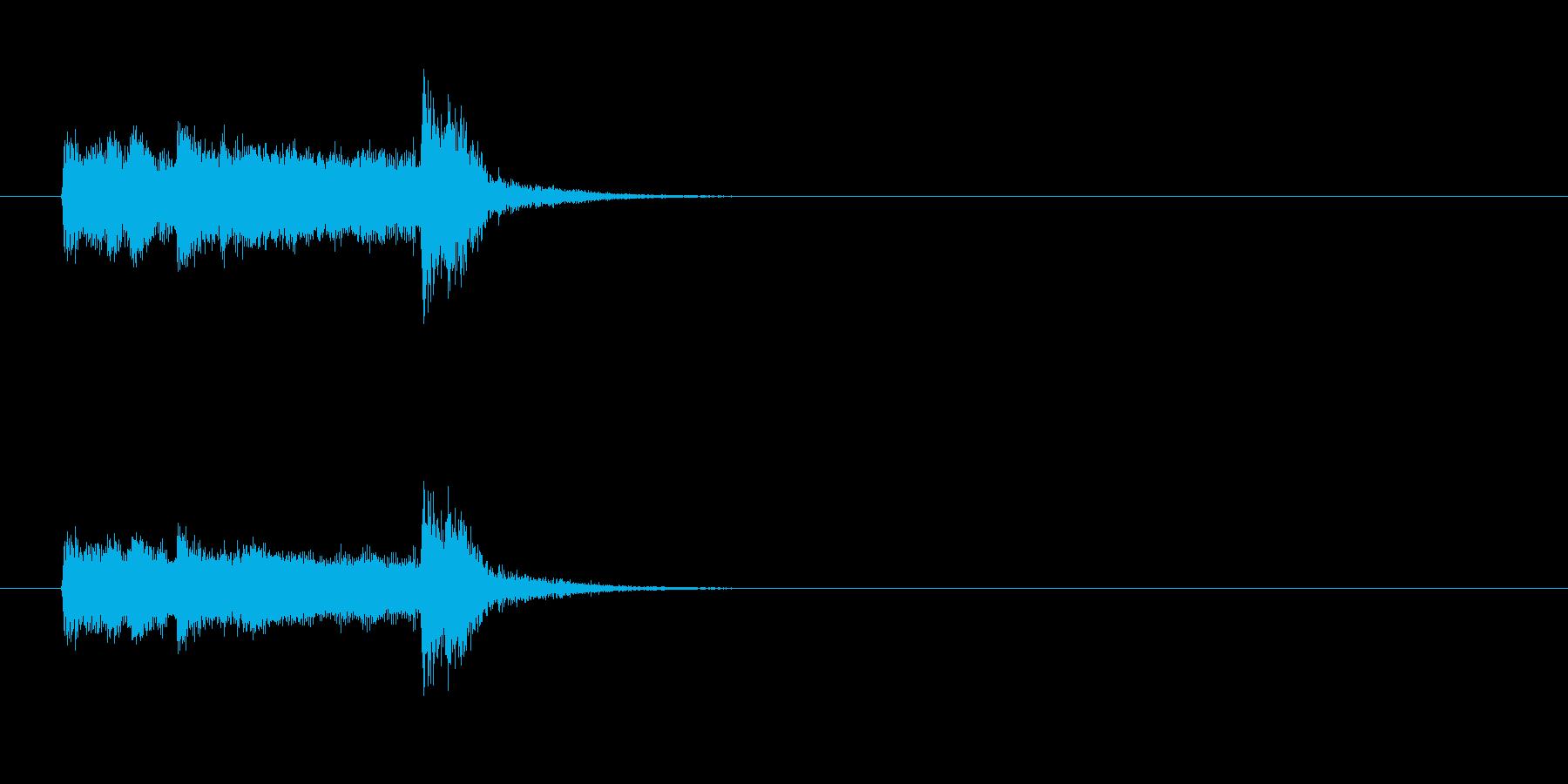 ジングル(意表をつく感じ)の再生済みの波形