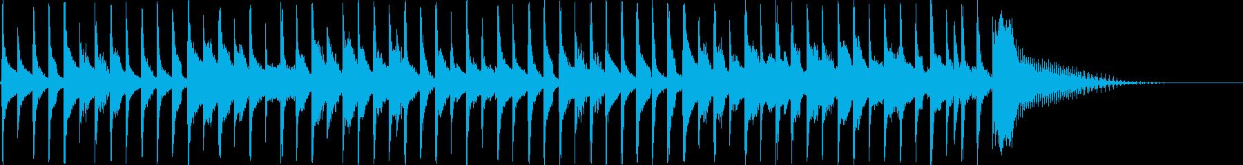 CMにぜひ!コミカルなボサノバ風の再生済みの波形