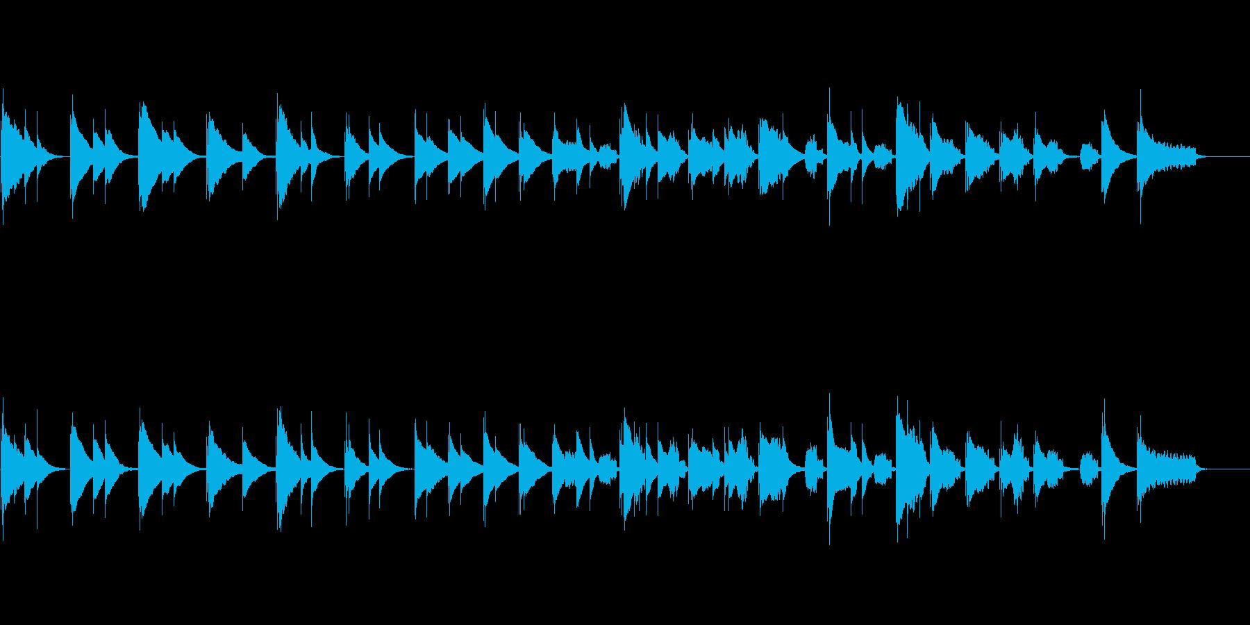 さびしい回想シーンの音楽の再生済みの波形