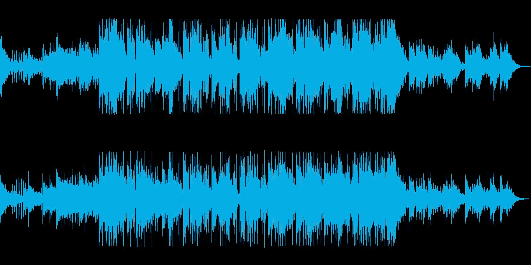 ピアノがおしゃれなカフェサウンドの再生済みの波形
