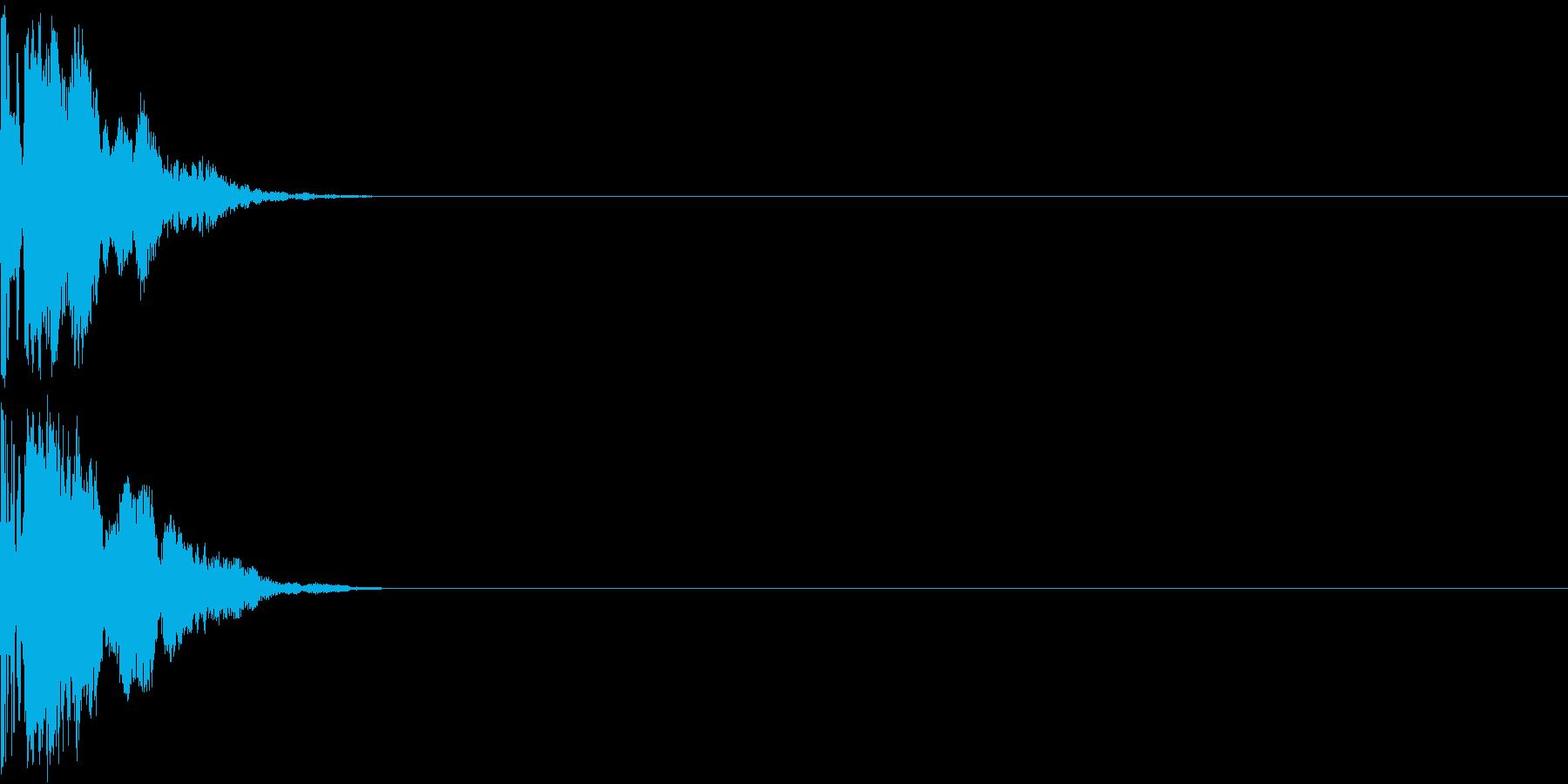 Invader レーザーガン ショット音の再生済みの波形