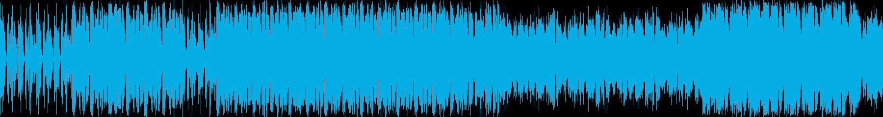 ラテンなノリの戦闘曲。ループ素材。の再生済みの波形