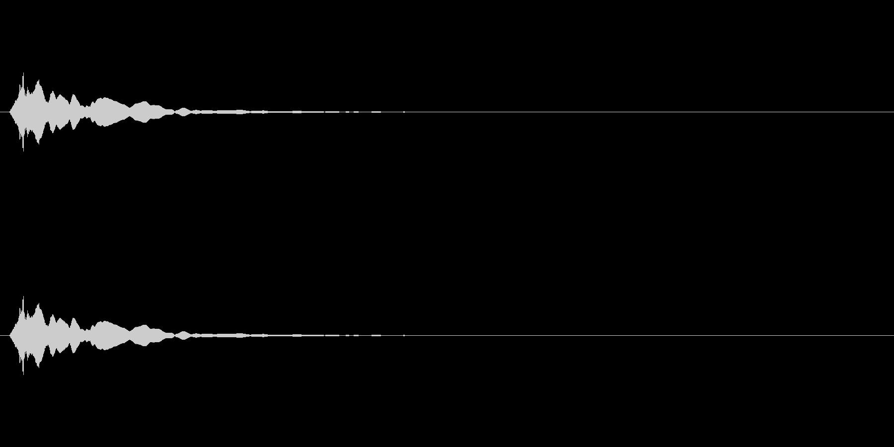 ピーン(ポイント,テロップ)の未再生の波形