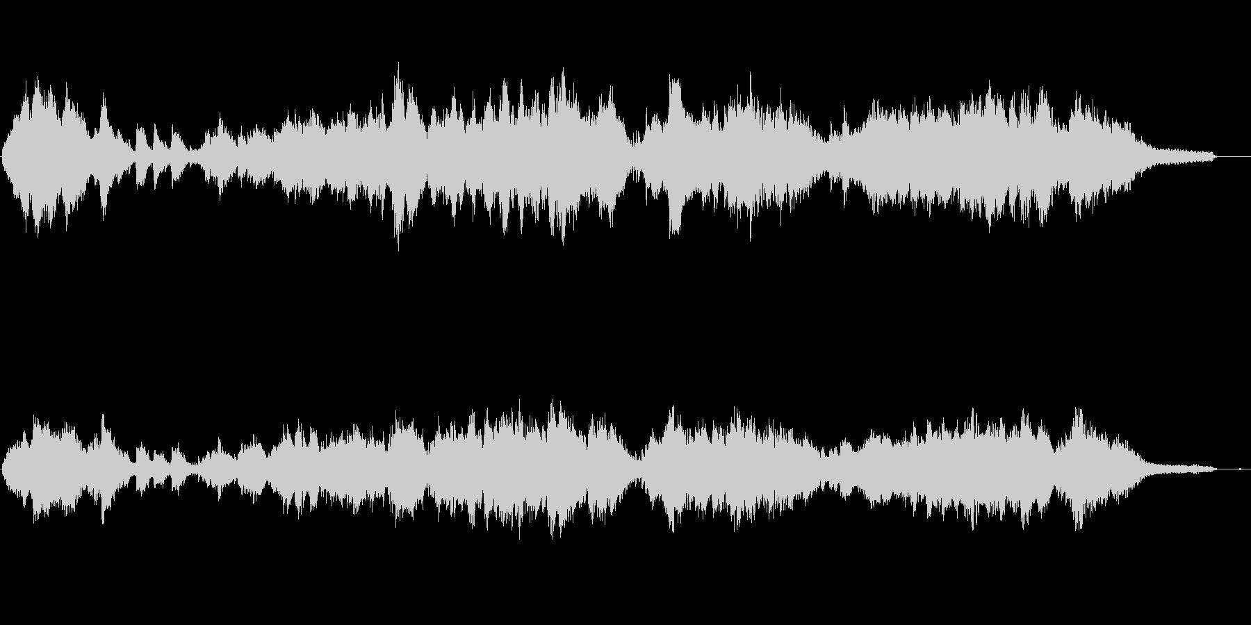高速ピアノ曲、キラキラ輝くイメージの未再生の波形