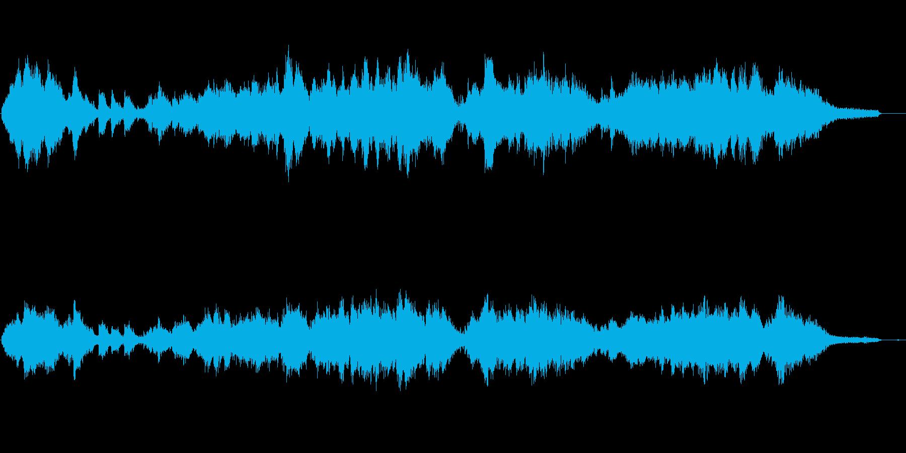 高速ピアノ曲、キラキラ輝くイメージの再生済みの波形
