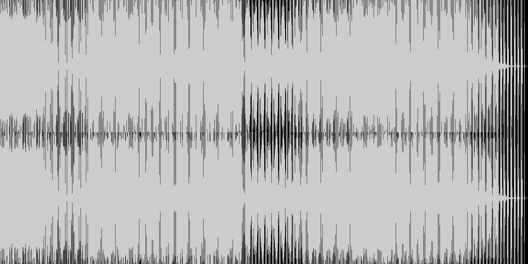ダークな重いハウスの未再生の波形