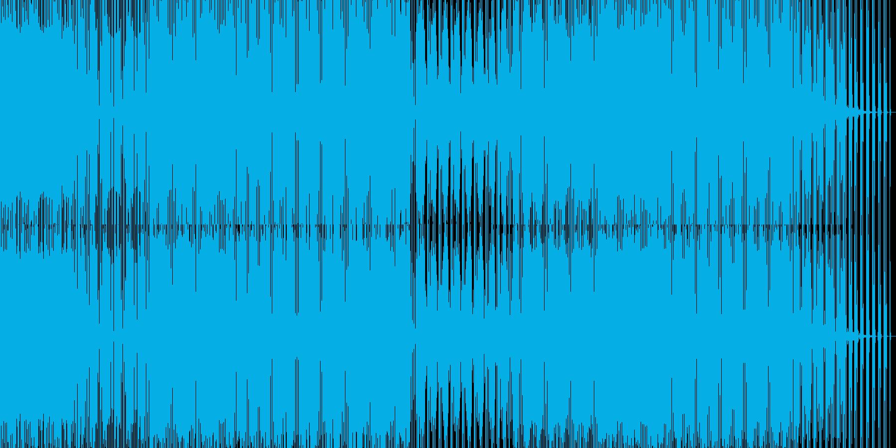 ダークな重いハウスの再生済みの波形
