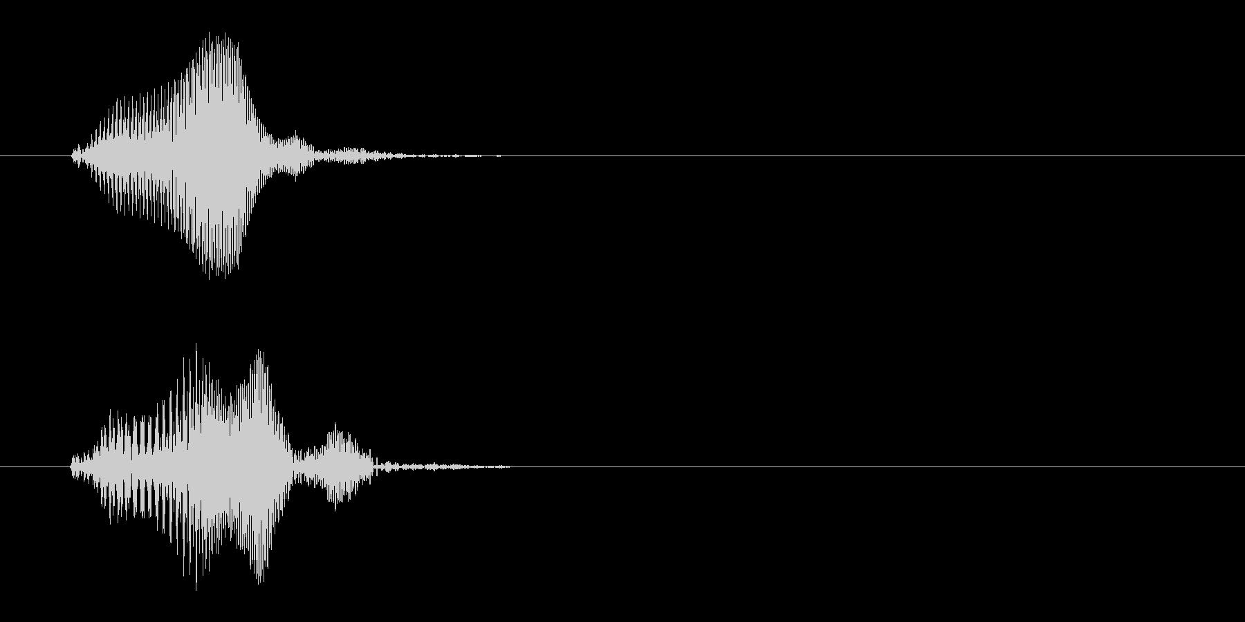 ピッと鳴く小鳥の効果音の未再生の波形