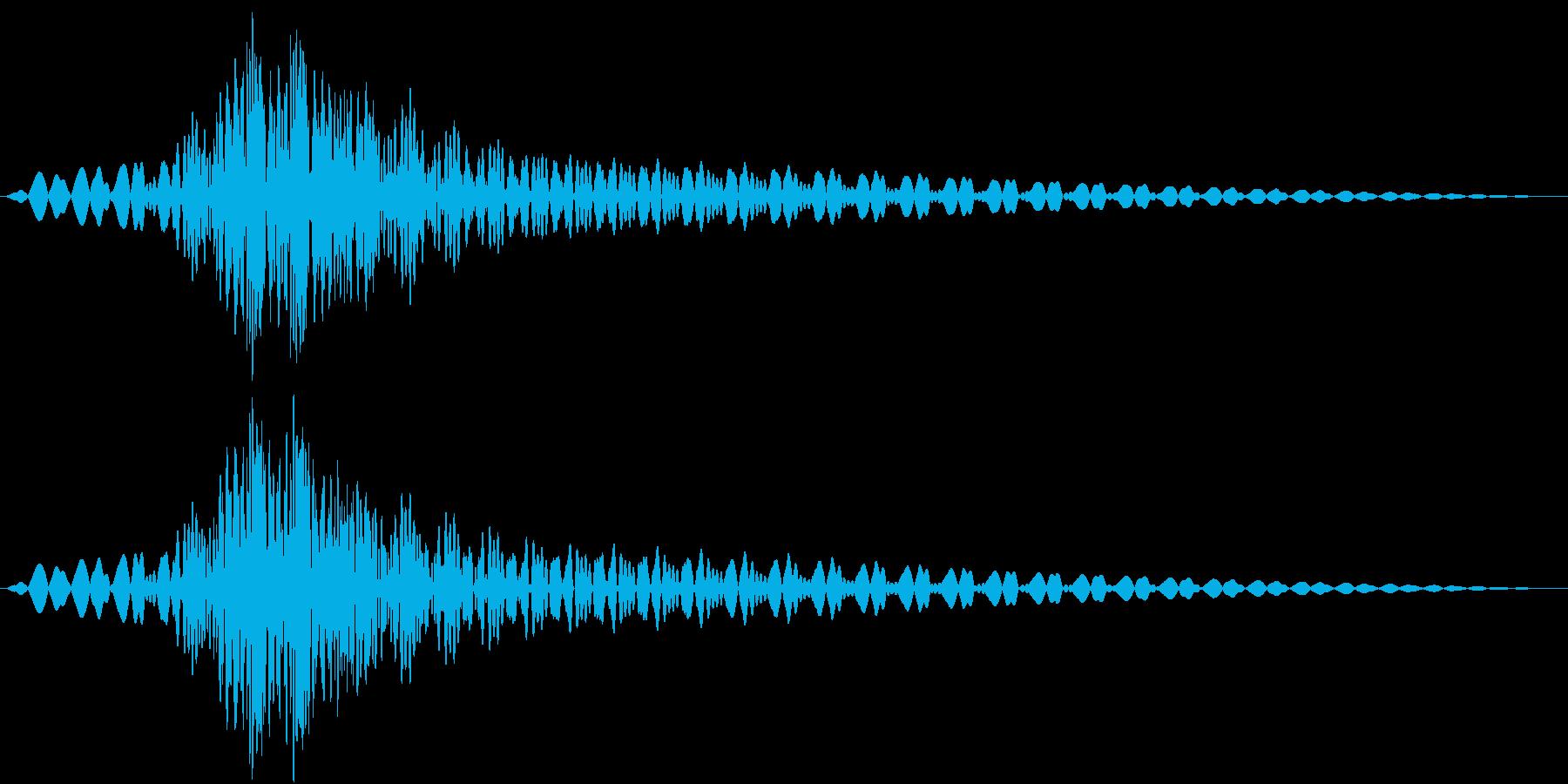 Booom!! ライトセーバー風 剣の音の再生済みの波形