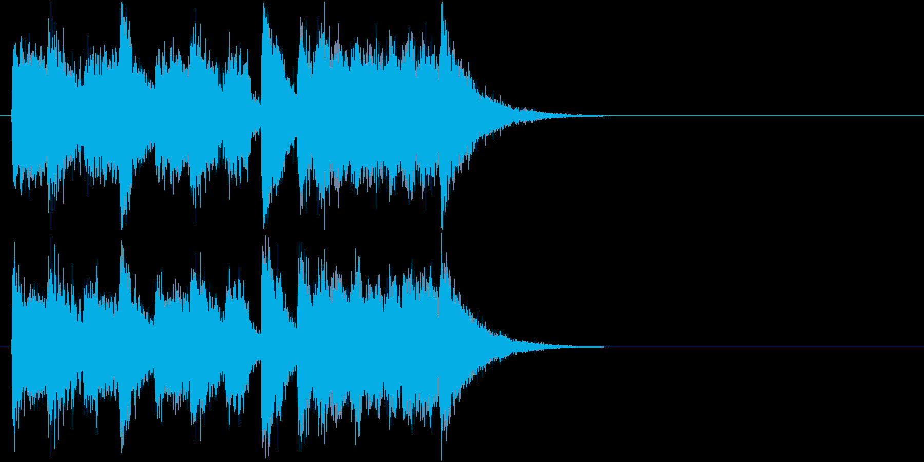 ファンファーレ風の壮大・勇壮なジングルの再生済みの波形