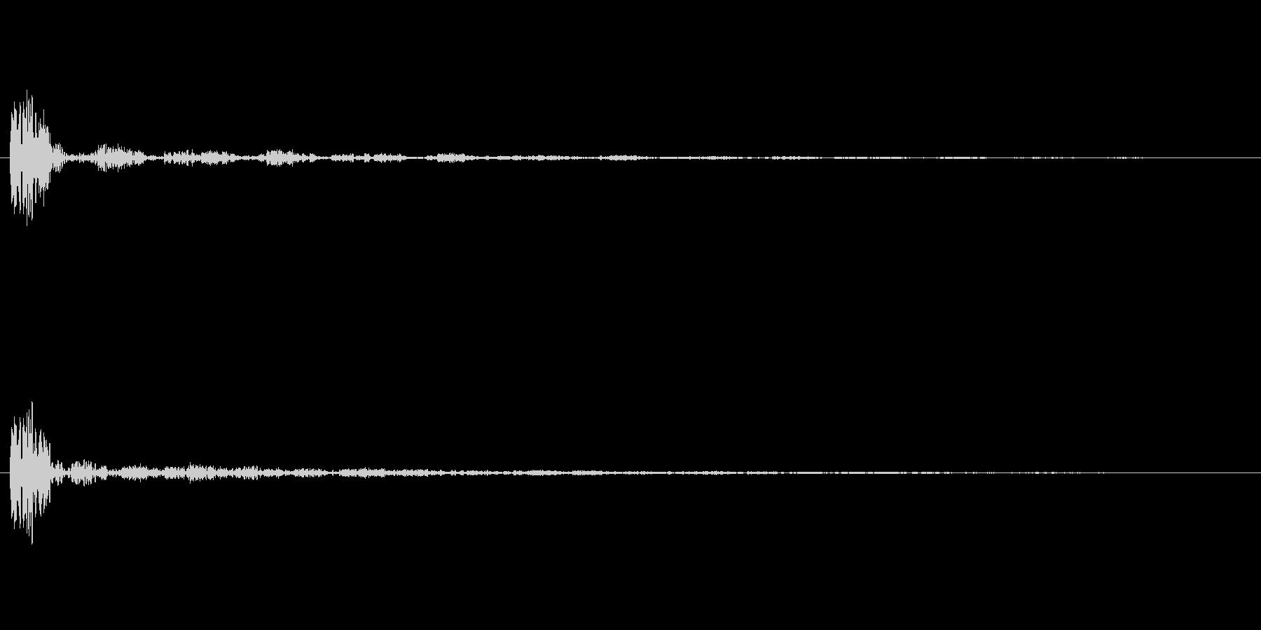 ボン+せり上がりの余韻の未再生の波形