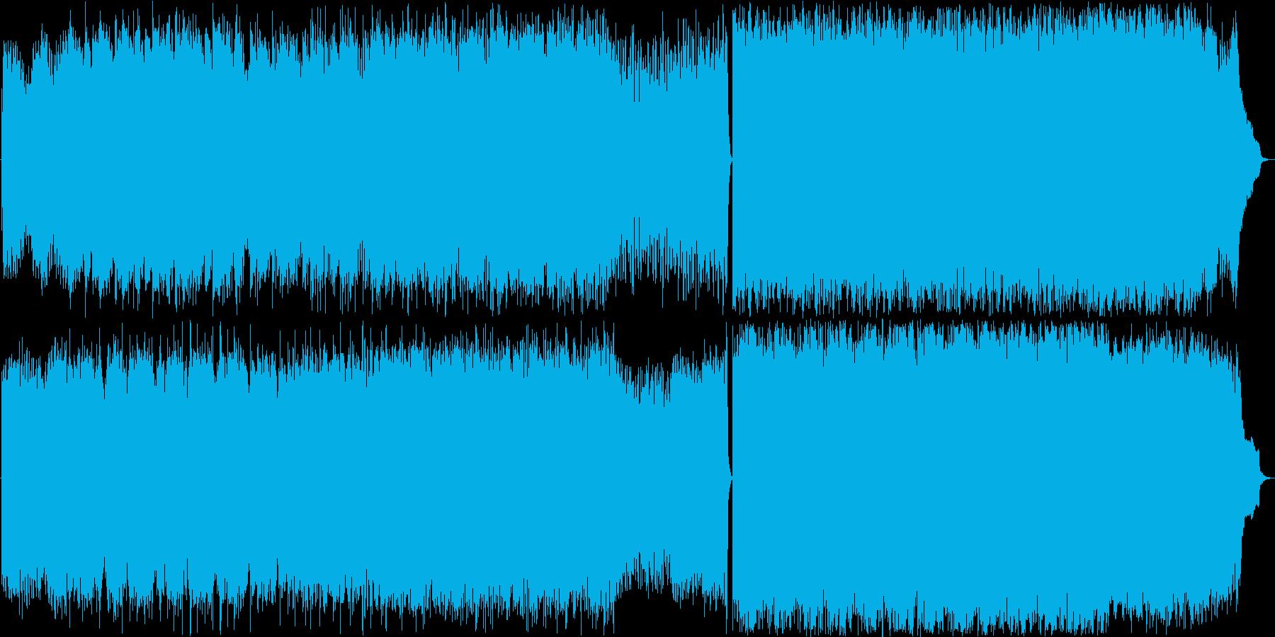 ピアノシンセストリングス 切ないバラードの再生済みの波形