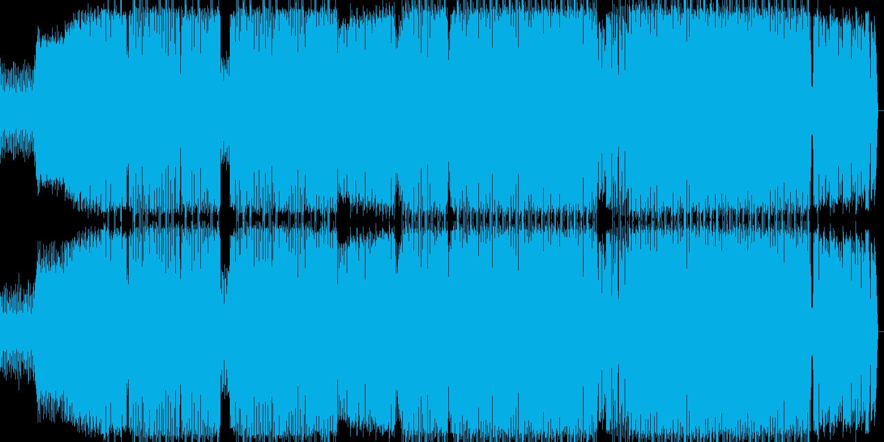 男性ボーカルが特徴のヒップホップの再生済みの波形
