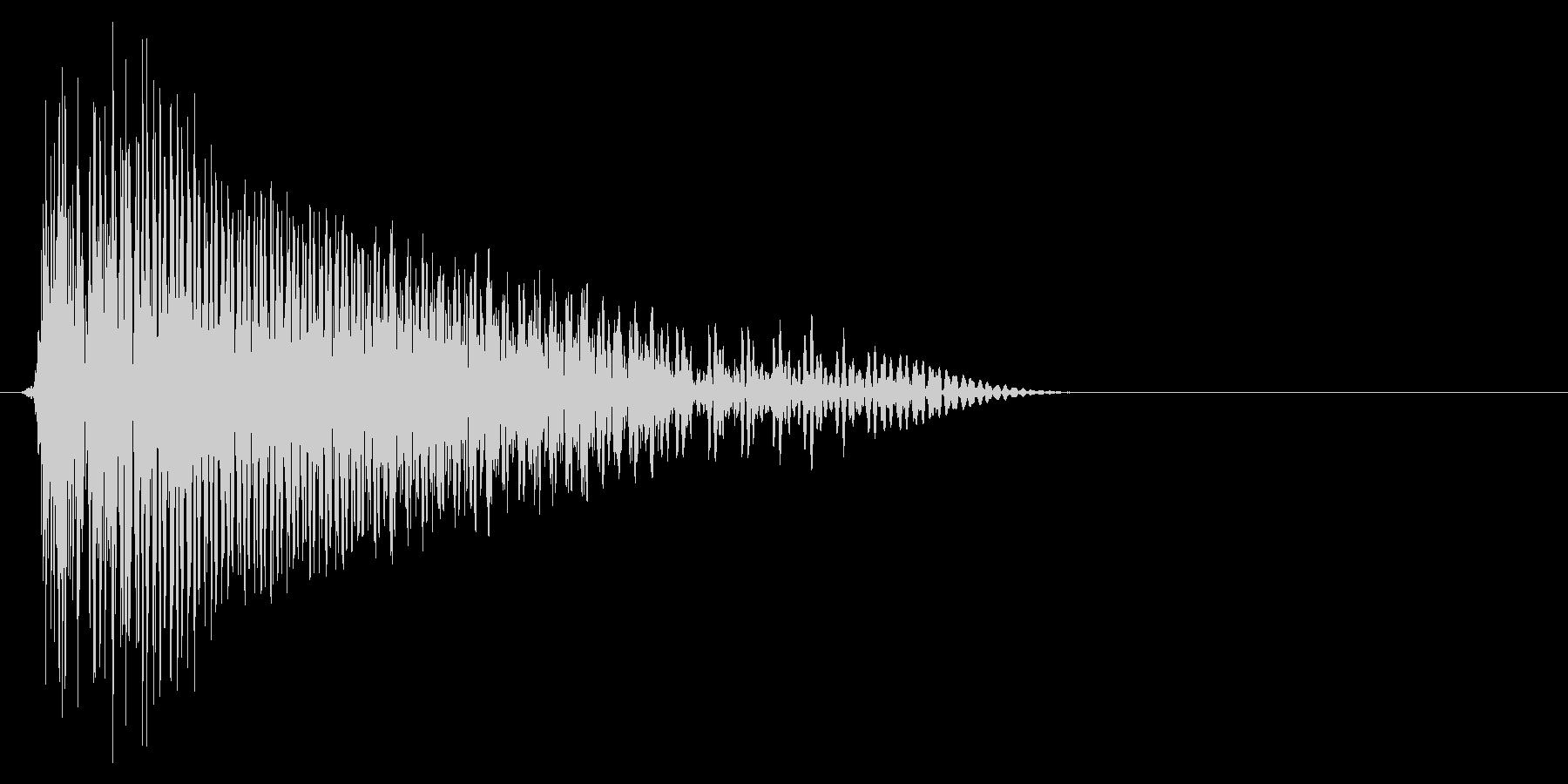ゲーム掛け声ゾンビ1アウー1の未再生の波形