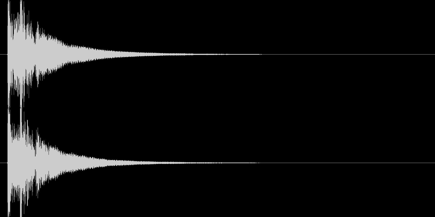 オリジナル和太鼓のドドン!の未再生の波形