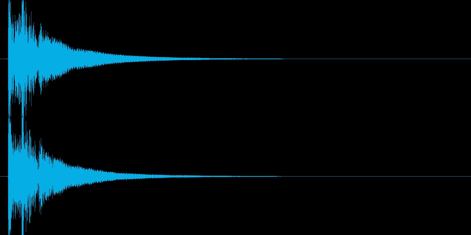 オリジナル和太鼓のドドン!の再生済みの波形