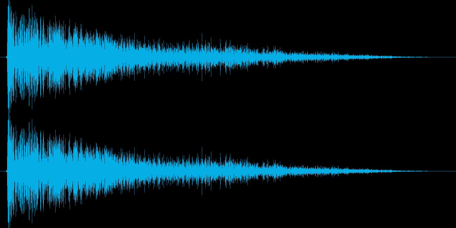 ピシューン!(レーザーガン発射音)Aの再生済みの波形