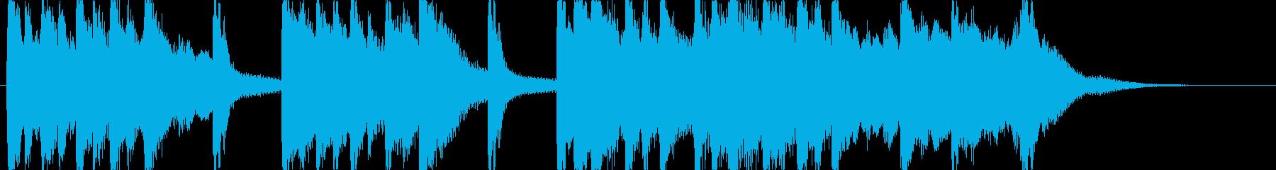 市販CD音圧。琴笛を使った邦楽出囃子の再生済みの波形