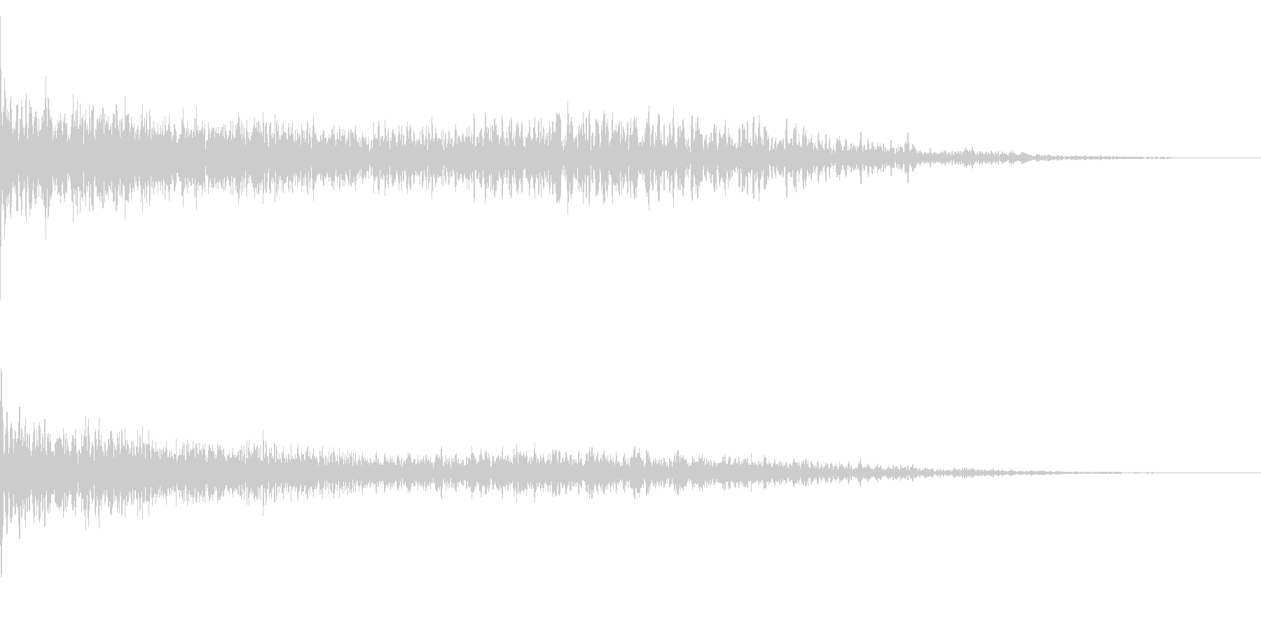 ホラー系アタック音22の未再生の波形