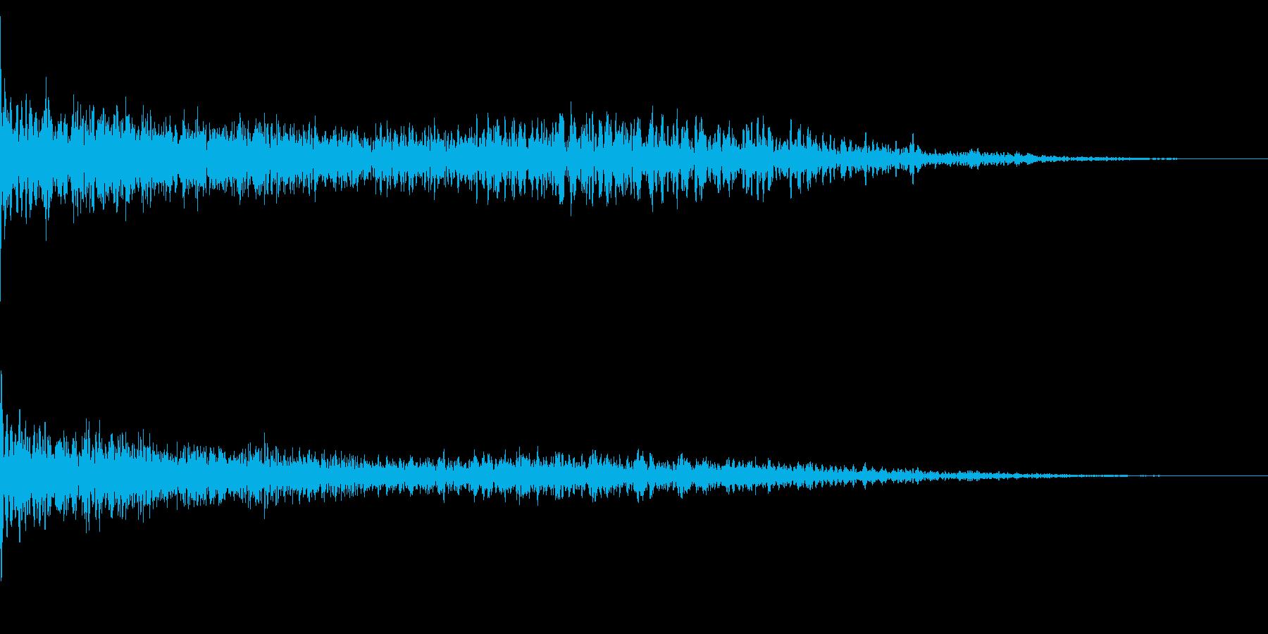 ホラー系アタック音22の再生済みの波形