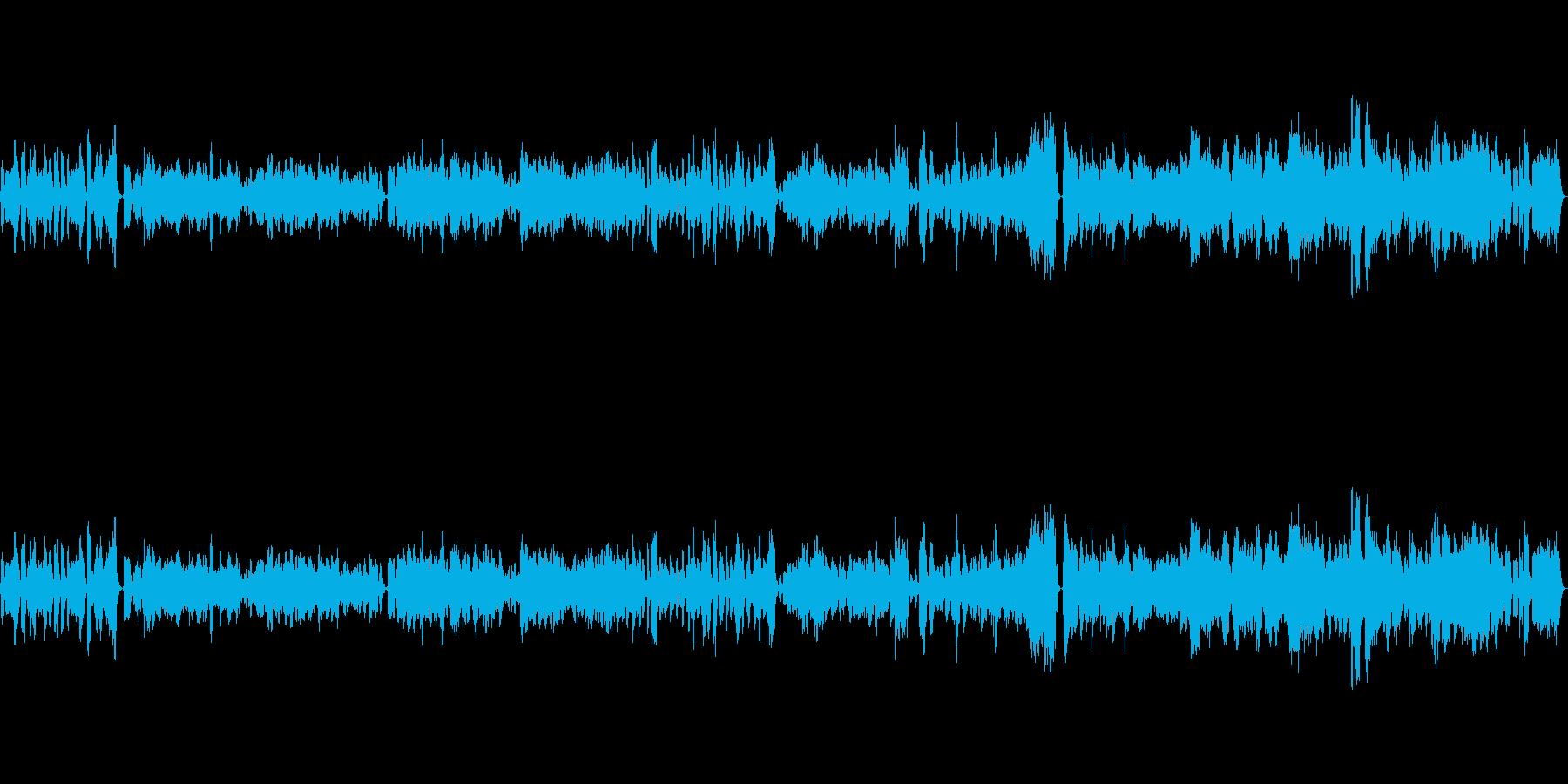 ゆったりと陽気な音楽/フルート多重録音の再生済みの波形