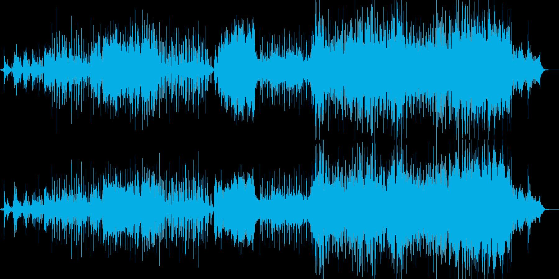ピアノとアコギの背景的音楽の再生済みの波形