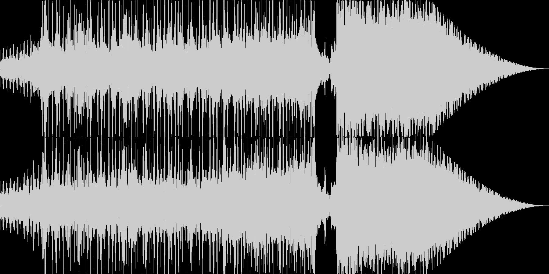 ロック パワフルで切な目のバラードの未再生の波形