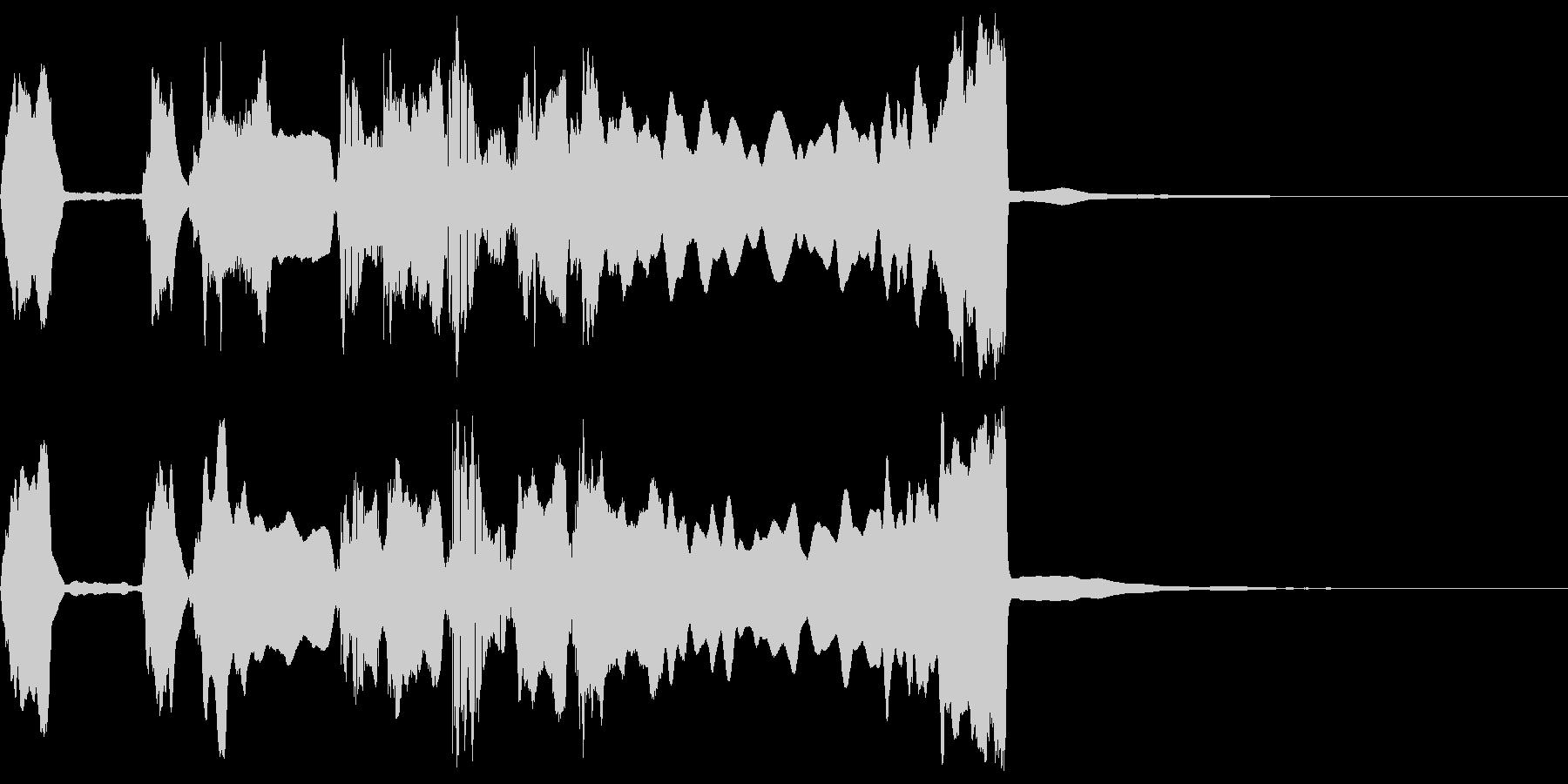 シンプルなファンファーレ2の未再生の波形