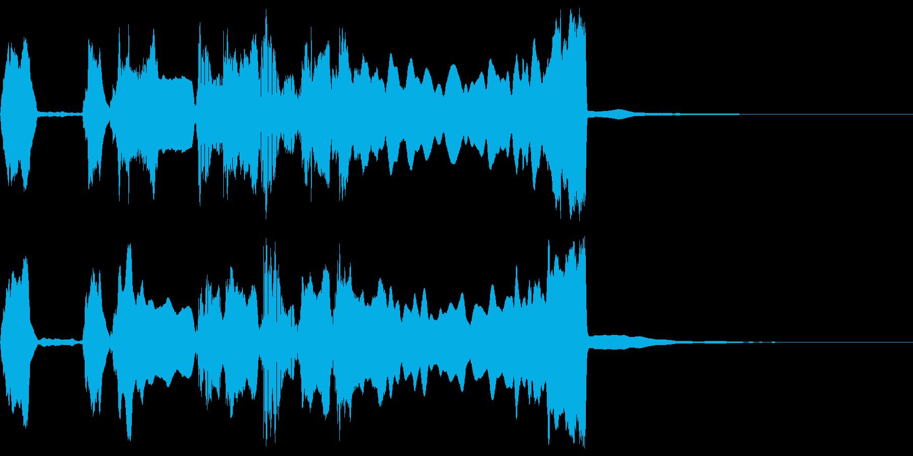 シンプルなファンファーレ2の再生済みの波形