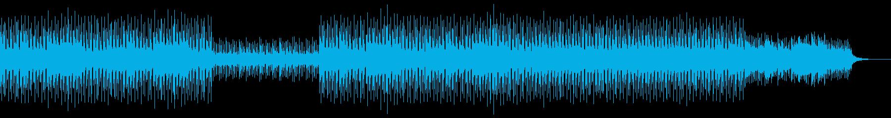 ゆったりとした浮遊感のあるほのぼのした曲の再生済みの波形
