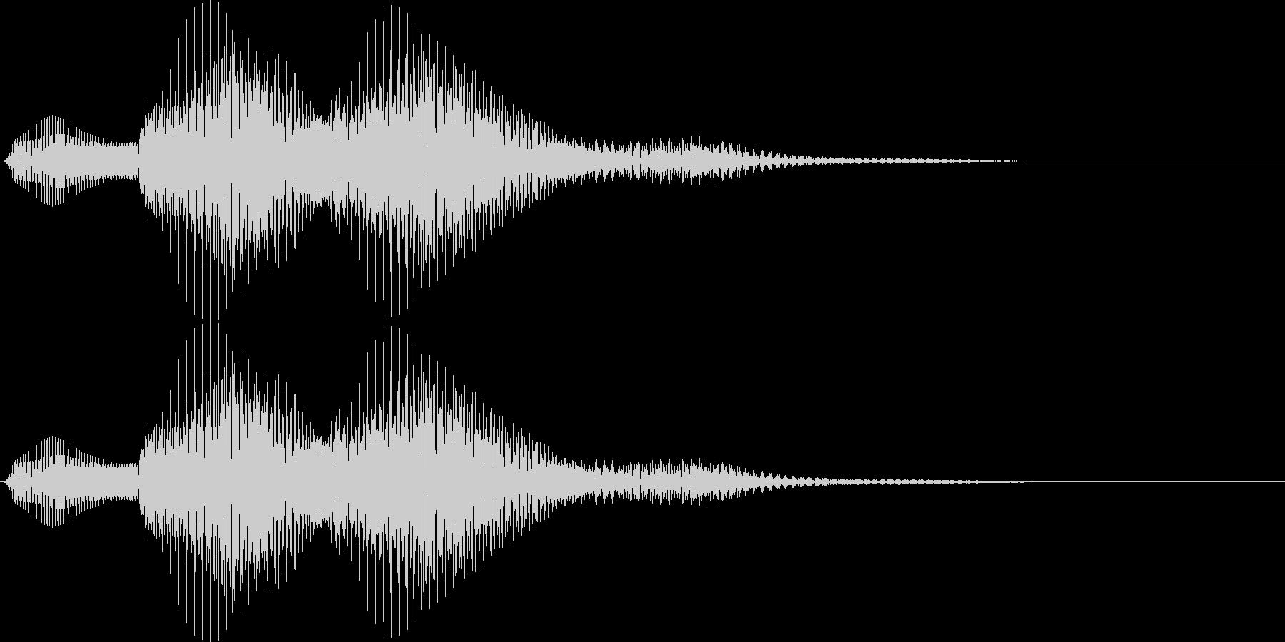 選択音 - 2 汎用の未再生の波形