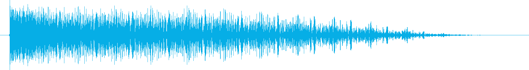 アニメ、SFの大爆発音の再生済みの波形