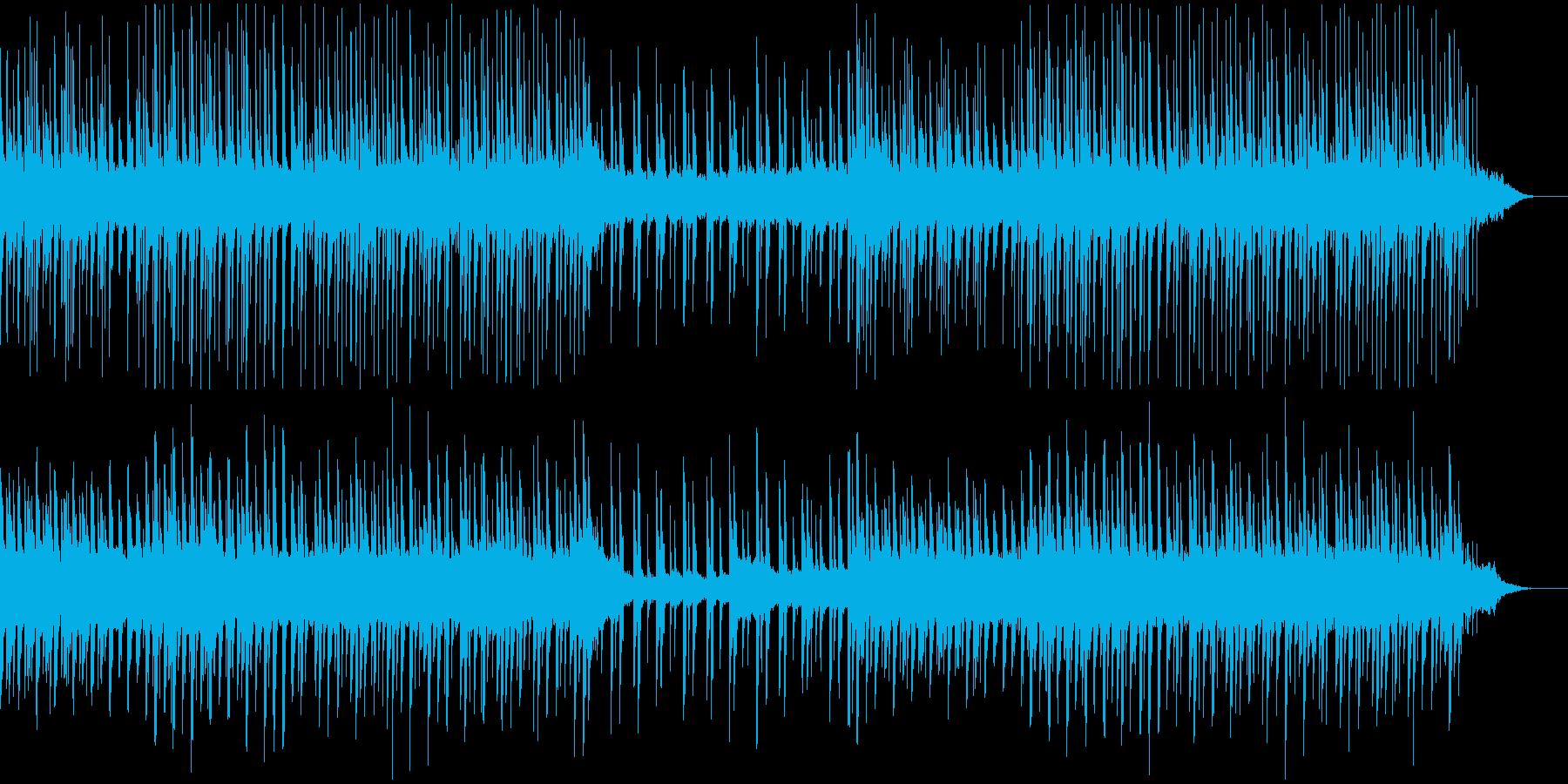 落ち着いたほのぼのとしたEDMの再生済みの波形
