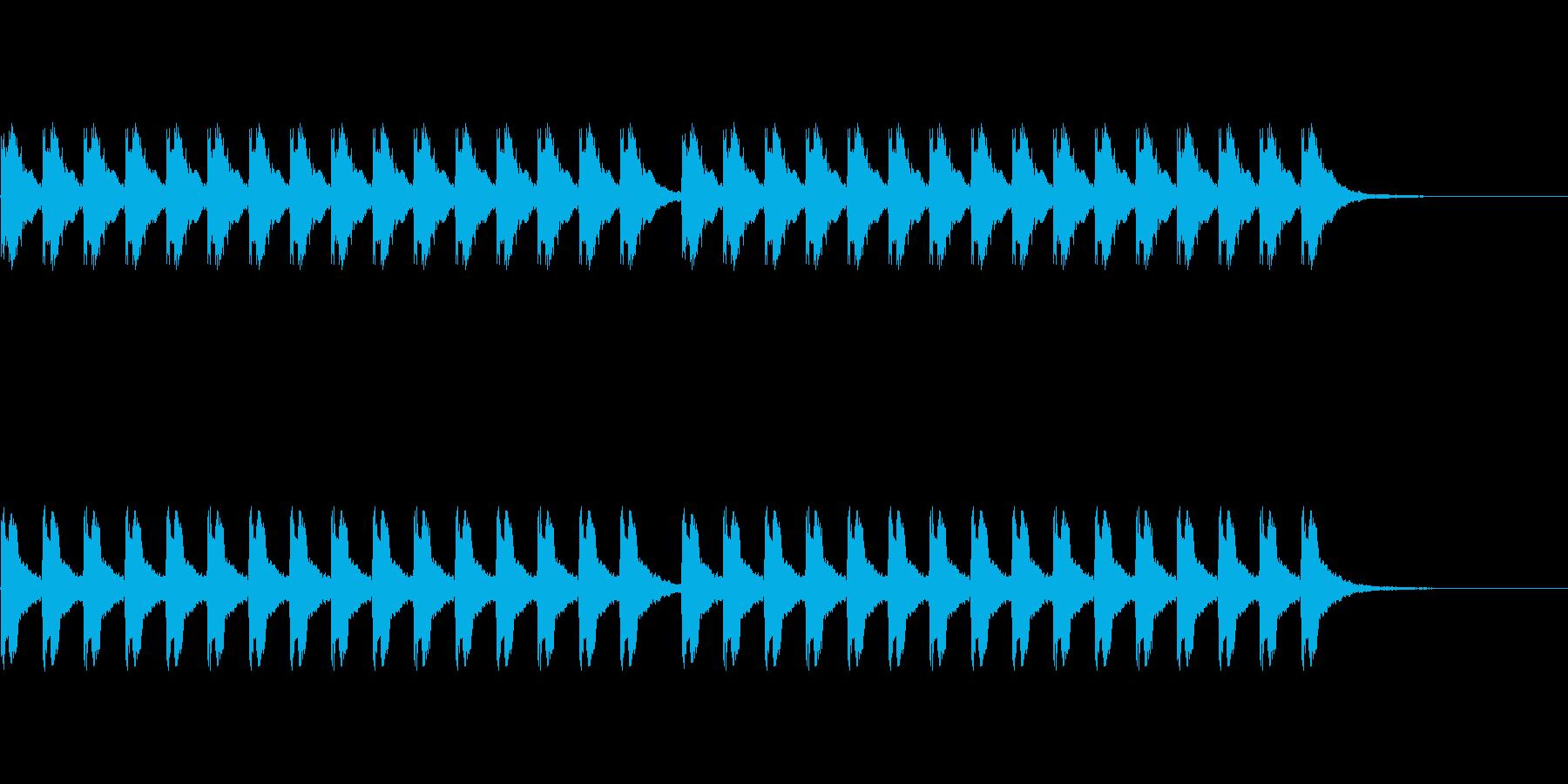 ビービービービー(警報が鳴る音)の再生済みの波形