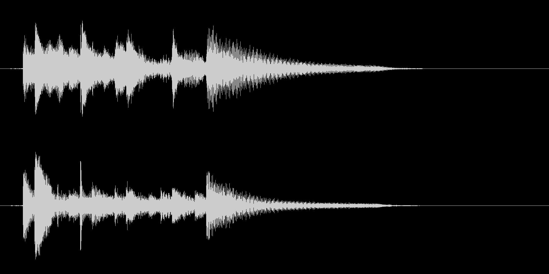 ピアノ、爽やか、下降アルペジオジングル2の未再生の波形