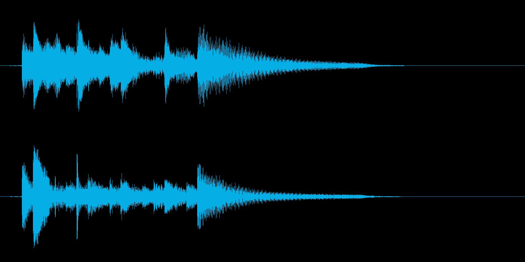 ピアノ、爽やか、下降アルペジオジングル2の再生済みの波形