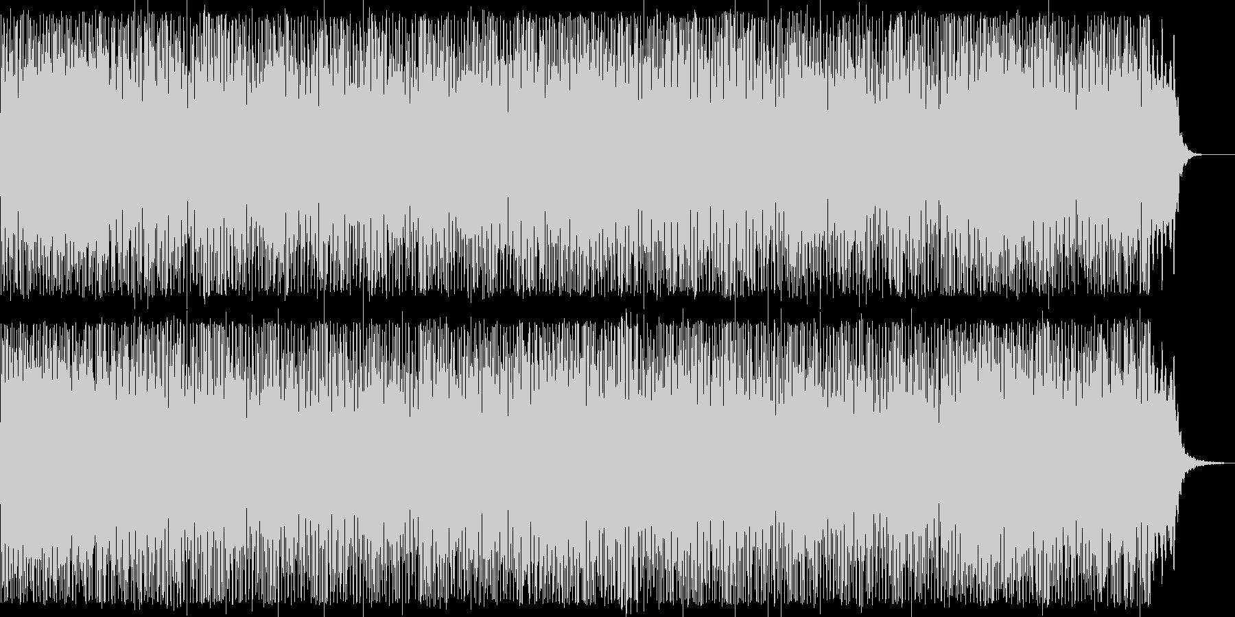 爽やかなピアノシンセテクノ系ポップの未再生の波形