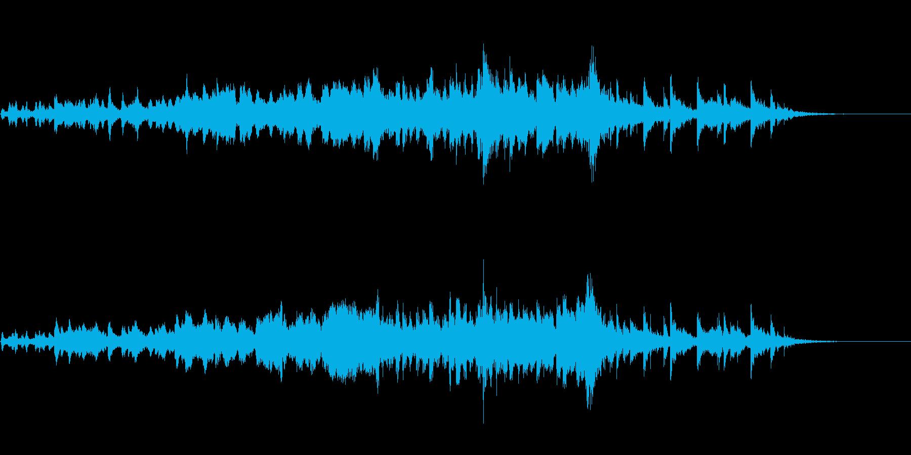 暖かみのあるサウンドの再生済みの波形