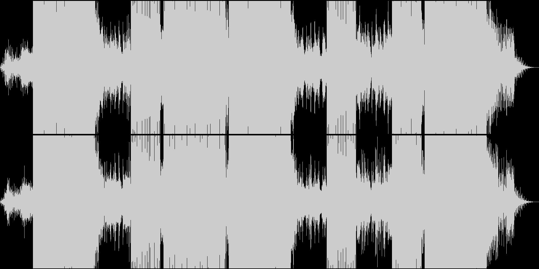 映像用浮遊感のあるメロディが流れるEDMの未再生の波形