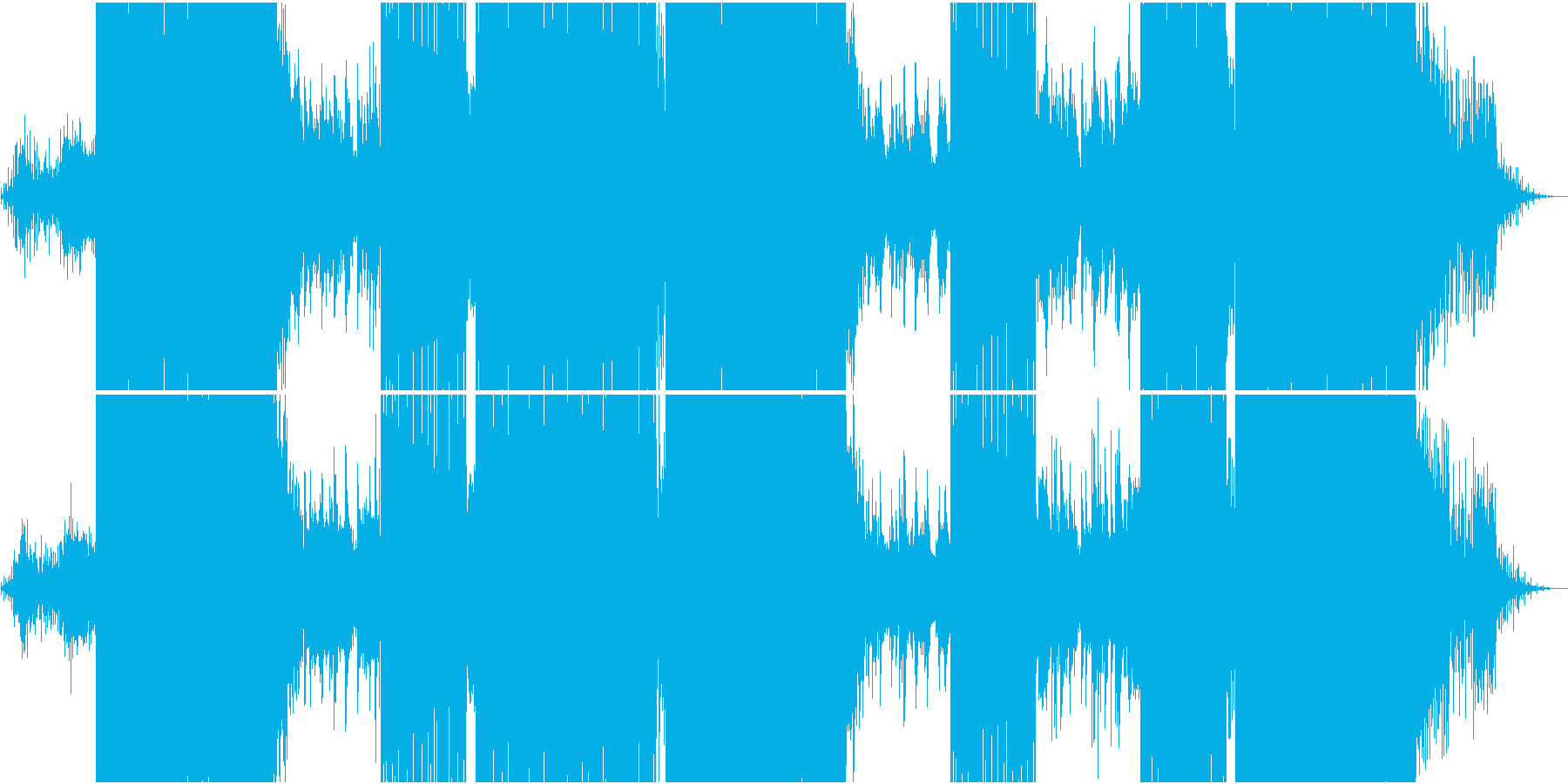 映像用浮遊感のあるメロディが流れるEDMの再生済みの波形