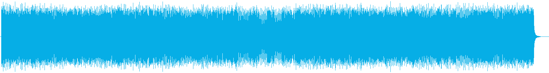 軽快で楽しげなミュージックの再生済みの波形